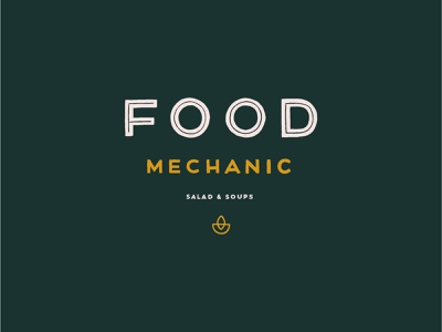 Food Mechanic Logo Outtake triangle logo restaurant healthyfood healthy branding design food brand hand type hand lettered logo bowl soups salad mechanic food brand identity branding logo hand drawn typography lettering hand lettering
