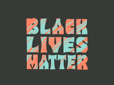 Black Lives Matter bold typography hand type type speak up thick lettering groovy sketchy procreate art blm black lives matter block lettering block letters procreate illustration lettering hand lettering