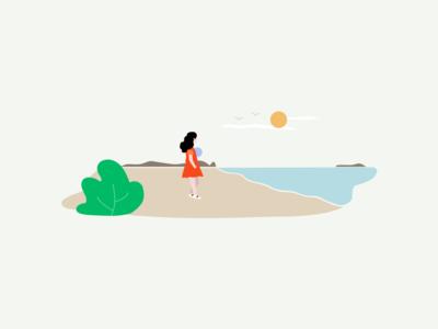 Remembering last summer vacation