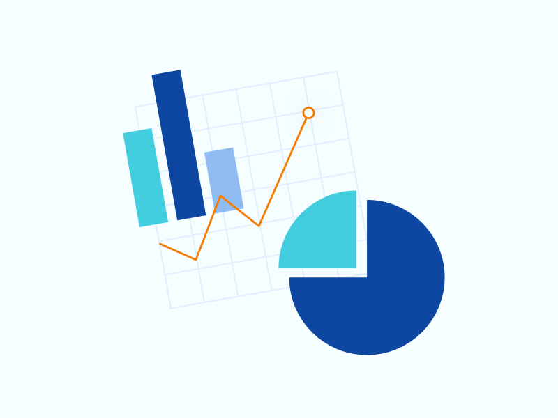 Reports product stats data chart report vector illustration