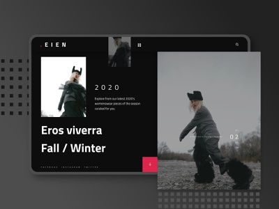 EIEN UI KIT abstract store fashion webdesign ecommerce ux minimal ui
