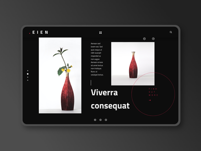 EIEN UI KIT dark black abstract ecommerce minimal store ui ux webdesign