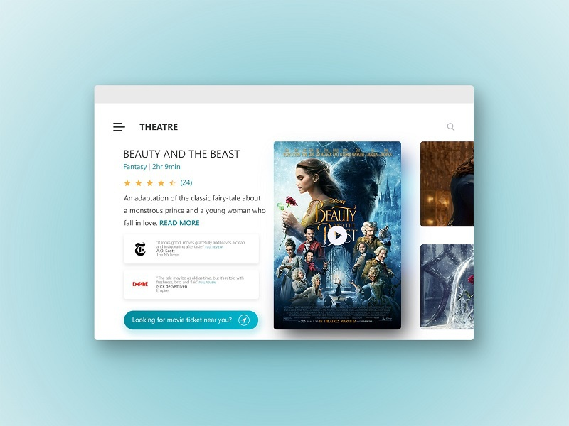 THEATRE – Movie Ticket Web Design
