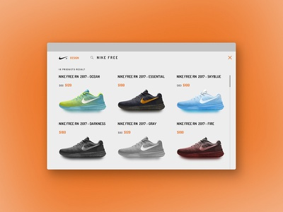 NIKE+ DESIGN store shoes search profile products nike mobileui ecommerce