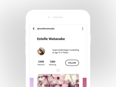 Profile UI ux ui social sketch search profile photoshop minimal media clean