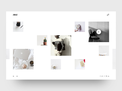 ABLE - Minimal & Clean Blog UI freebie simplicity simple white ux ui webdesign able clean minimal blog