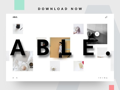 ABLE. Minimal Website Template UI able blog clean freebie minimal simple free ui ux webdesign white