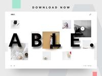 ABLE. Minimal Website Template UI