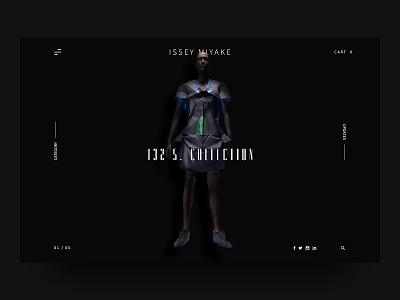 ISSEY MIYAKE - Modern Fashion Webdesign UI fashion issey miyake modern ui ux ecommerce slider homepage trend