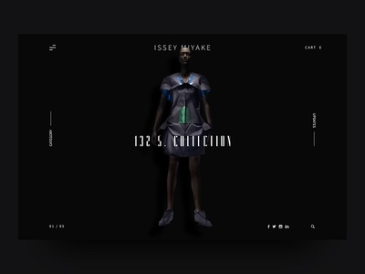 ISSEY MIYAKE - Modern Fashion Webdesign UI