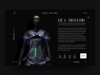 ISSEY MIYAKE - Modern Fashion Webdesign UI trend homepage slider ecommerce ux ui modern issey miyake fashion
