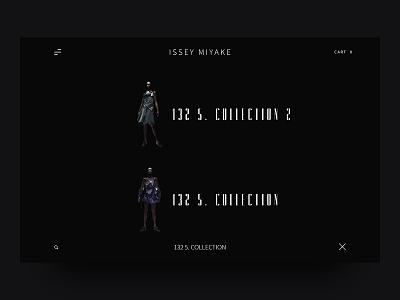 ISSEY MIYAKE - Modern Fashion Webdesign UI fashion issey miyake modern ui ux ecommerce search homepage trend