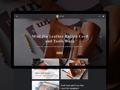 Sneak peek - HOME leather product minimal sneak peek history ecommerce featured slider homepage user interface uidesign