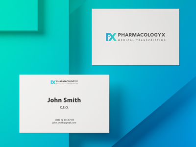 Pharmacologyx Visiting Card
