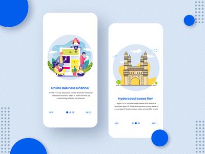 Mobile app intro screen