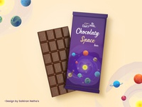 Dairy Milk Chocolaty Space Bar - Dribble Redesign Wrapper