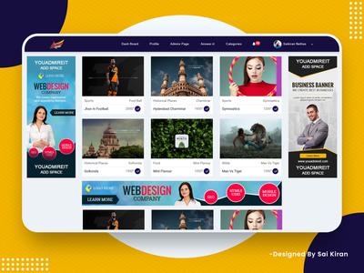 Social Media Web Application Design (You Admire It)