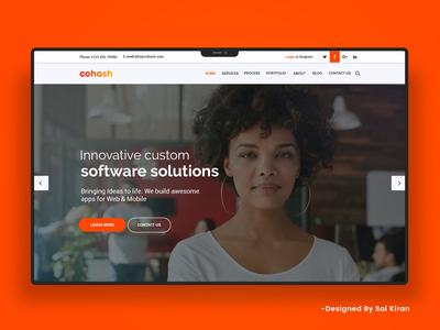 Cohash Homepage UI Design