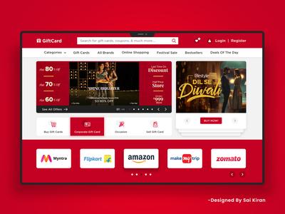 GiftCard Landing Page UI Design