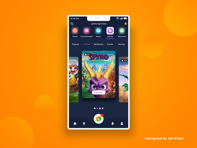 Mobile app dark theme design