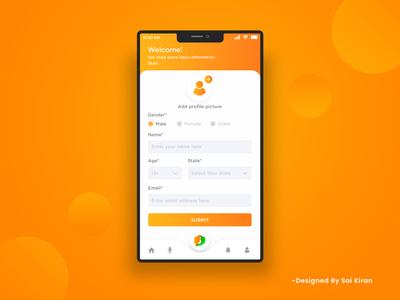 Mobile app profile update design