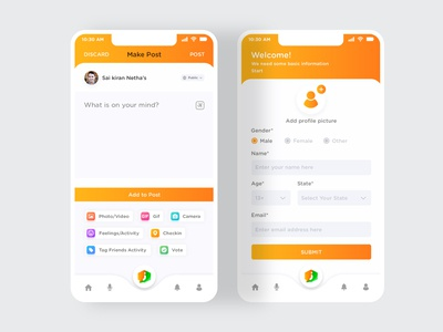 Mobile app make post design