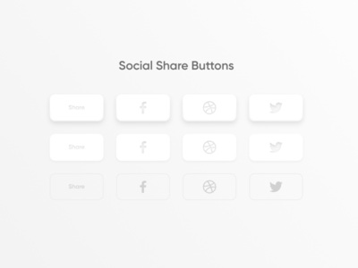 Daily UI Challenge #010 - Social Share Buttons