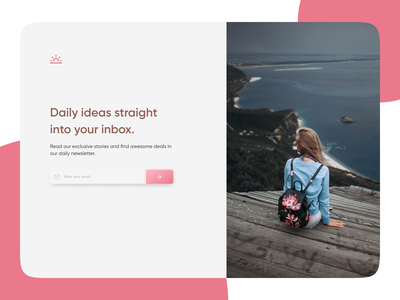 Daily UI Challenge #026 - Subscribe daily 100 challenge dailyui store girly ui clean website web design subscribe subscribe form