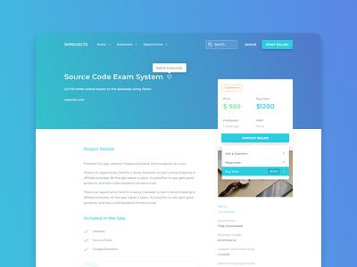1KProjects - Project View clean interface design website app web design ui