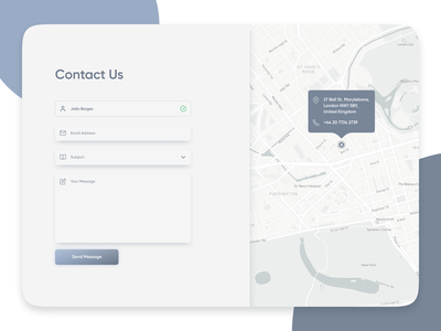 Daily UI Challenge #028 - Contact Us Form form design ui clean web design dailyui contact us form website