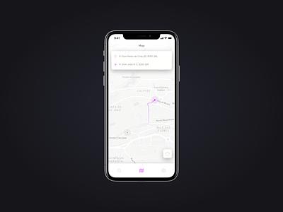 Daily UI Challenge #029 - Map mobile app mobile app design mobile ui light theme clean ios app design dailyui maps gps navigation directions map interface app