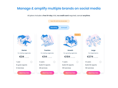 Daily UI Challenge #030 - Pricing illustration dailyui pricing table pricing landing page marketing app interface clean ui