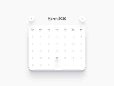 Daily UI Challenge #038 - Calendar daily daily 100 challenge dailyui calendar 2020 interface clean ui calendar design calendar ui