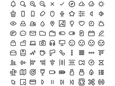 Minimal Icons pack free app web flat icon open source minimal freebie icons