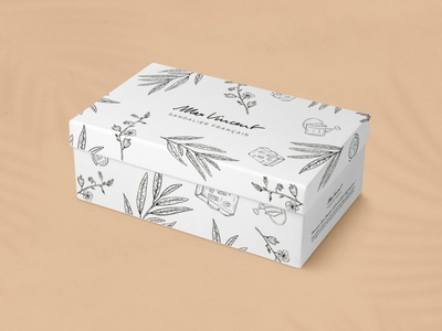 Max Vincent pattern flowers nature made in france shoes sketches botanical illustration packaging box