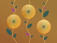 Lierres en fleur