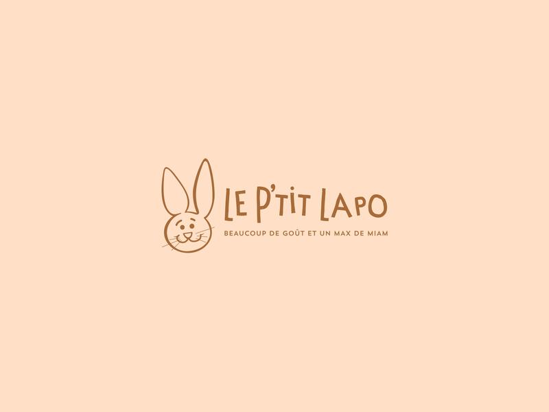 Cream Lapo food rabbit kids typography branding logo