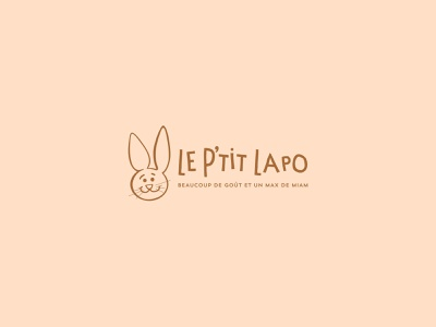 Cream Lapo food rabbit kids typography branding logo