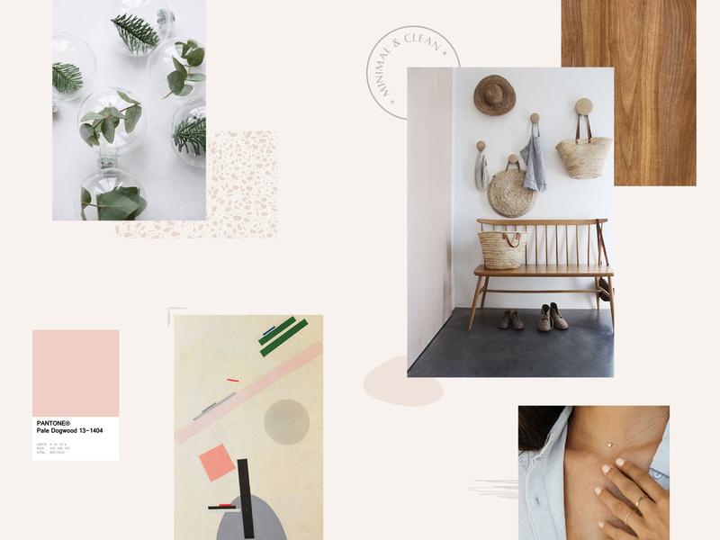 Minimal & Clean moodboard pastel neutral texture inspiration pantone moodboard clean minimal branding