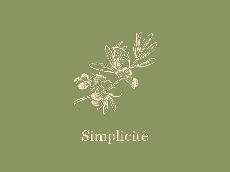 Simplicité sketching drawing typography green botanical texture illustration nature