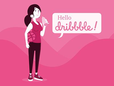 Dribbble Debut! inkscape vector illustration debut monochrome flat design flat