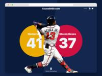 Acuna 50 50 Tracker page player mlb baseball braves atlanta