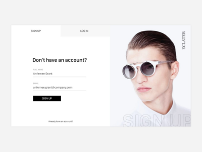 Daily UI Challenge | 001 Sign Up dribbble interation collectui signup login website ui dailyuichallenge