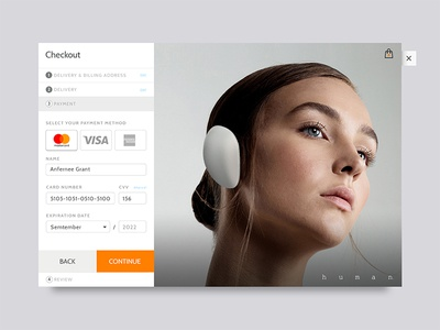 Daily UI Challenge | 002 Checkout headphones humaninc collectui webdesign website ui checkout dribbble dailyuichallenge