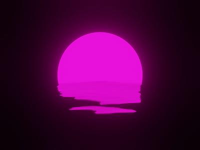 Sunset loop dribbble design blender 3d blender 3d