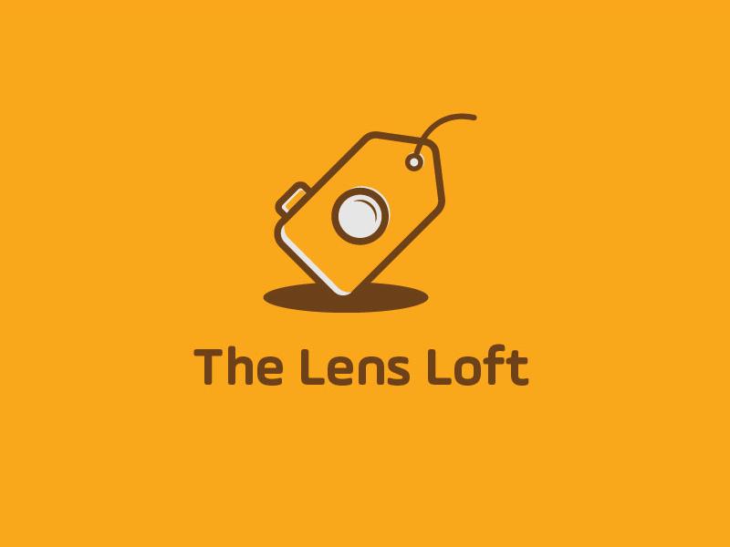 The Lens Loft minimal lens logo lens price tag camera