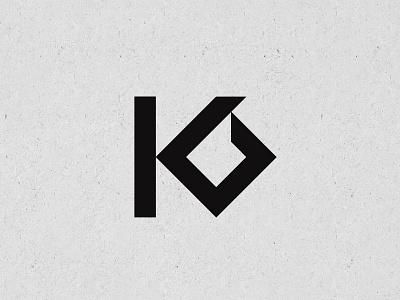 KB logo. creative loto minimal logo kb logo