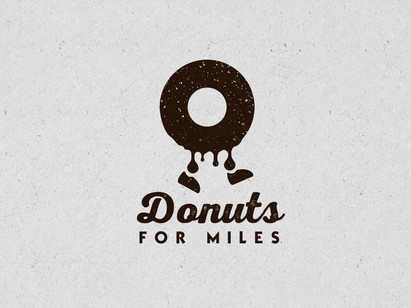 Donuts For miles retro logo rustic logo donuts logo donuts walking donuts