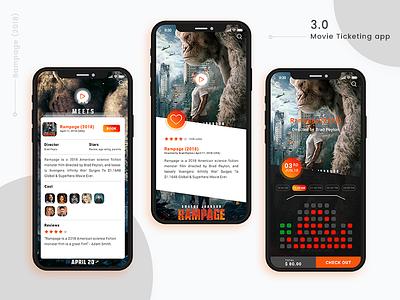 Movie Ticketing apps concept webui androidapp ihphoneapp appsdesign ux ui movieticketapp