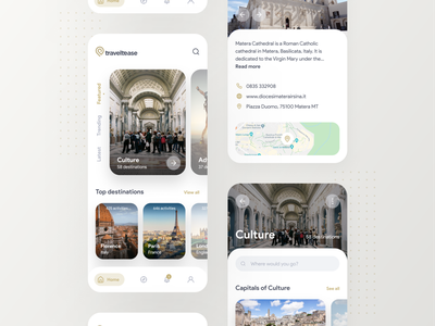 Traveltease — Travel App uxuidesign travel travel app app design uiux design uiuxdesign design app uxui ux user interface interaction design prototype figma app ux design ui design inspire ui design